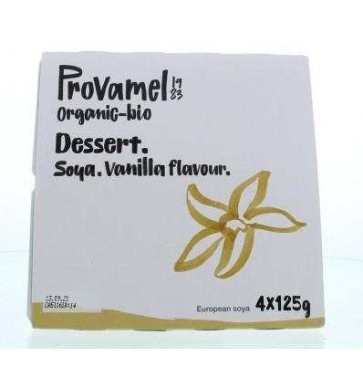 Dessert Provamel vanille rietsuiker 125 gram 4 stuks kopen