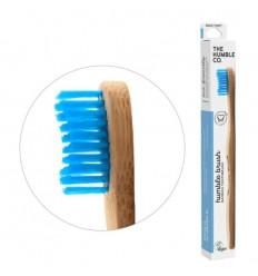 The Humble Co Tandenborstel bamboe adult blauw brush soft