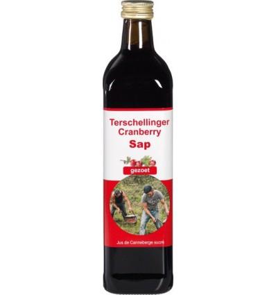 Cranberrysap Terschellinger puur zoet 750 ml kopen