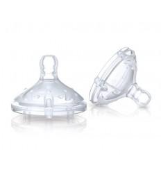 Nuby Replacement nipple slow flow 2 stuks