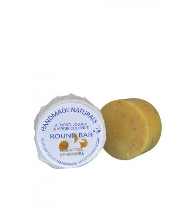 Handmade Naturals Handgemaakte ronde zeep Kamille met Lemongrass